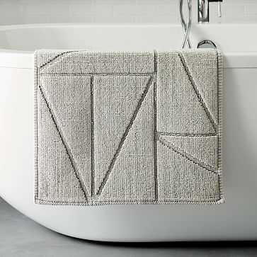 """Triangle Sculpted Bath Mat, 20""""x34"""", Gray Sky - West Elm"""