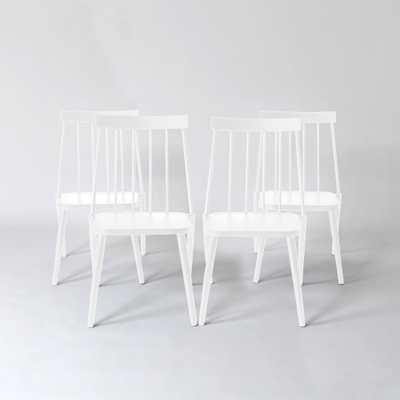 Windsor 4pk Patio Dining Chair - White - Project 62 - Target