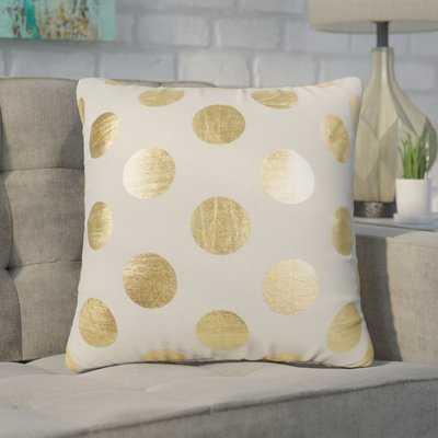 Geter Dots Large Throw Pillow - Wayfair