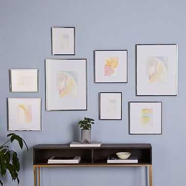 Gallery Frames, Polished Nickel, Set of 8 - West Elm