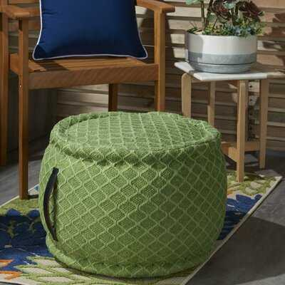 Nashwauk Geometric Indoor/Outdoor Pouf - Wayfair