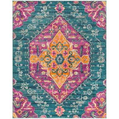Safavieh Madison Blue/Fuchsia (Blue/Pink) 8 ft. X 10 ft. Area Rug - Home Depot