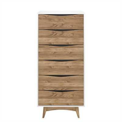 53.54 Hamilton Tall Dresser White - Manhattan Comfort - Target