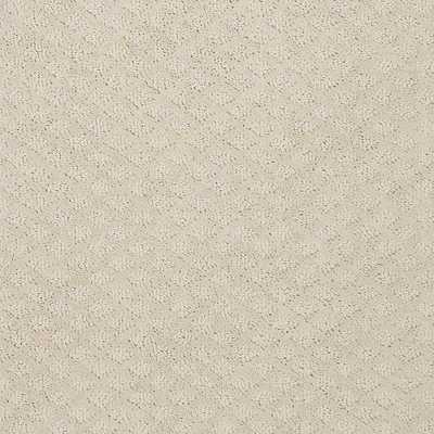 Carpet Sample - Charm Square - Color Creamery 8 in. x 8 in., Beige/Ivory - Home Depot
