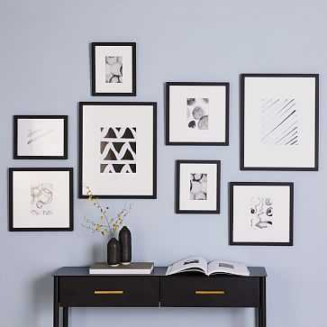 Gallery Frames, Black, Set of 8 - West Elm