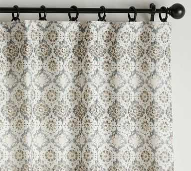 "June Print Blackout Curtain, Neutral Multi, 84 x 50"" - Pottery Barn"