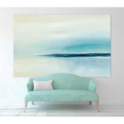 "54 in. x 84 in. ""Stillness"" by Michele Gort Printed Framed Canvas Wall Art - Home Depot"