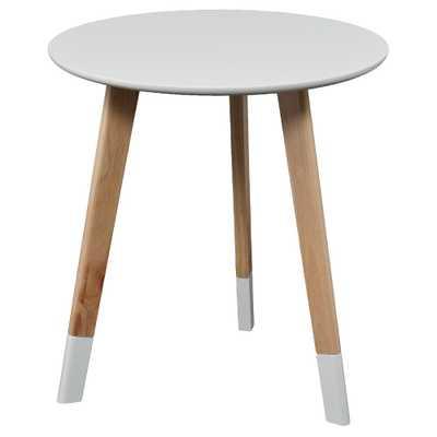 Neelan Round Accent Table - Glossy White - Aiden Lane - Target