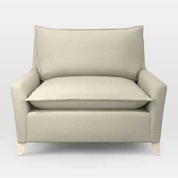 Bliss Chair and a Half, Performance Basketweave, Natural - West Elm