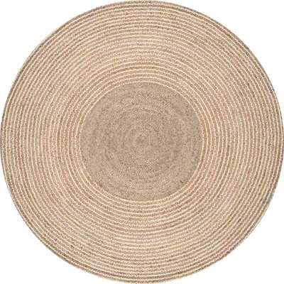 nuLOOM Braided Draya Jute Natural 6 ft. x 6 ft. Round Rug - Home Depot
