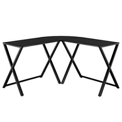 X-Frame Black Desk - Home Depot