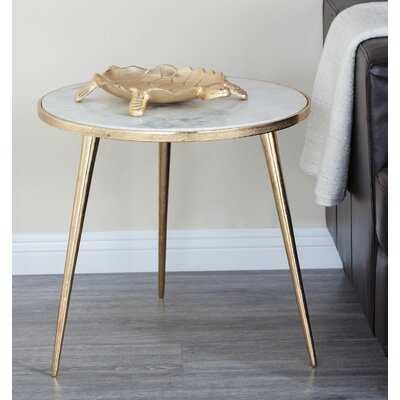 Arkadelphia Marble End Table - Wayfair