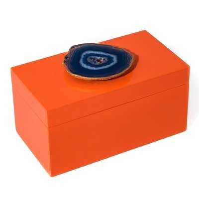 Lacquer accesory box - Blue agate - Wayfair