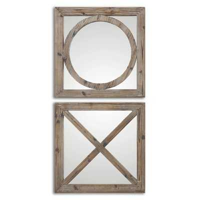 2 Piece Faustina Mirror Set - Wayfair