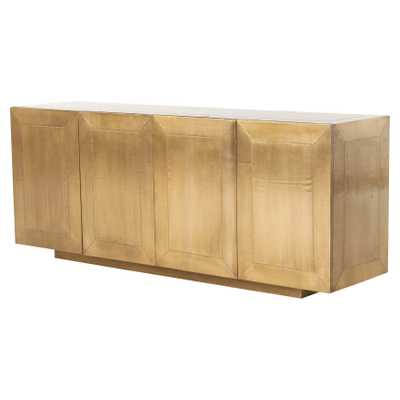 Ketzia Hollywood Regency Aged Brass Sideboard - Kathy Kuo Home