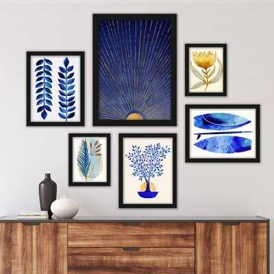 Tropical 6 Piece Framed Graphic Art Print Set - Wayfair