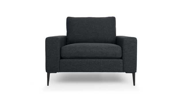 Nova Bard Gray Armchair, Black Legs - Article