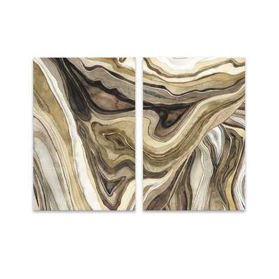 'Agate Watercolor' 2 Piece Print Set on Canvas - AllModern