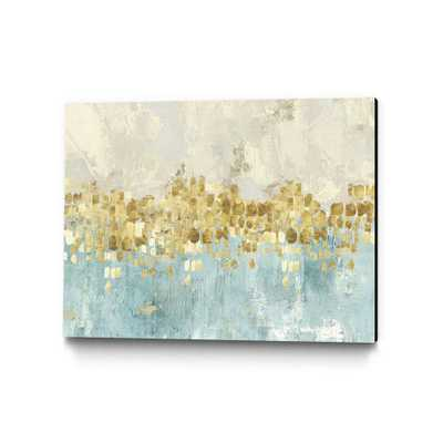 """40 in. x 30 in. """"Dancing Stars"""" by PI Studio Wall Art, Blue/White - Home Depot"""