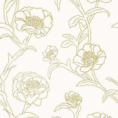 "Tempaper® 396' L x 20.5"" W Foiled Peel and Stick Wallpaper Roll - AllModern"