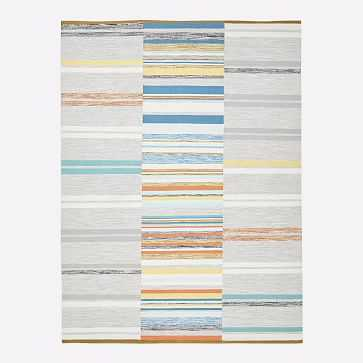 Mixed Stripes Dhurrie, Multi, 8'x10' - West Elm