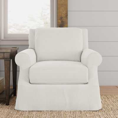 Donato Slipcovered Armchair / Classic Bleach White - Wayfair