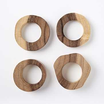 Wood Slice Napkin Rings, Set of 4 - West Elm