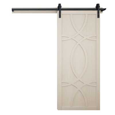 VeryCustom 36 in. x 84 in. Hollywood Parchment Wood Sliding Barn Door with Hardware Kit - Home Depot