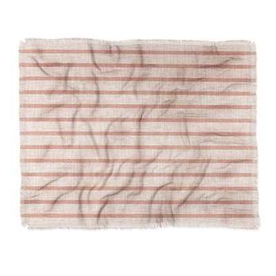 "Holli Zollinger ZHI STRIPE PINK Throw Blanket - 50"" x 60"" - Wander Print Co."