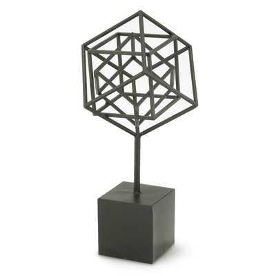 Nested Cubes Sculpture on Stand (Set of 2) - Wayfair