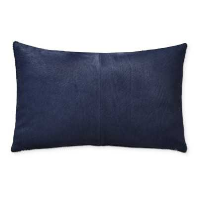 "Solid Hide Pillow Cover, 14"" X 22"", Navy - Williams Sonoma"