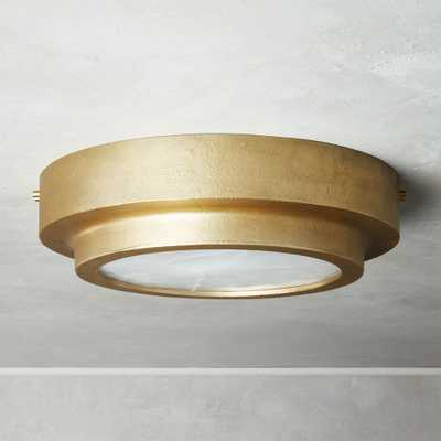 Nina Alabaster Brass Flush Mount Light Large - CB2