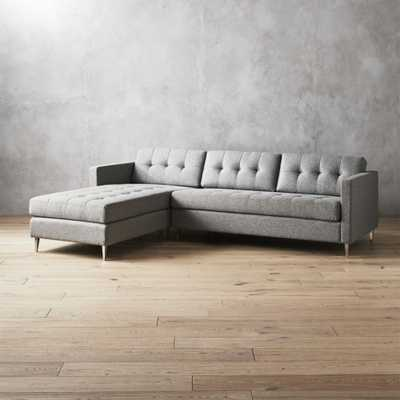 ditto II grey sectional sofa - CB2