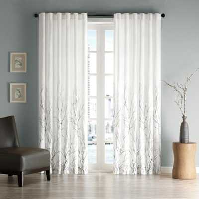 Madison Park Eliza White 50 in. x 108 in. Window Curtain - Home Depot