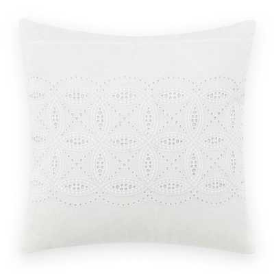 16 in. x 16 in. Annabella White Throw Pillow - Home Depot