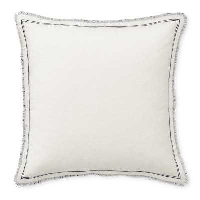 "Raw Edge Reversible Linen Pillow Cover, 22"" X 22"", Navy - Williams Sonoma"