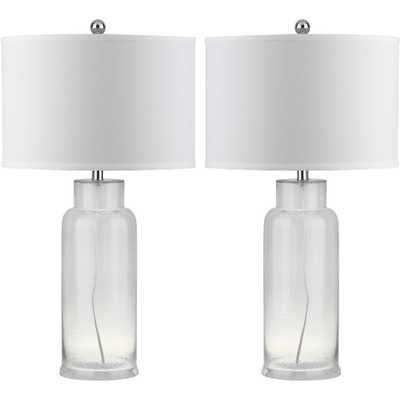 Table Lamp - Clear/White (Set of 2) - Safavieh - Target