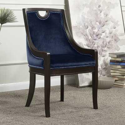 Adebay Nailhead Upholstered Dining Chair - Wayfair