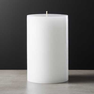 White Pillar Candle 4x6 - CB2