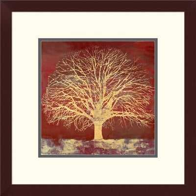 'Crimson Oak' Oil Painting Print - Wayfair