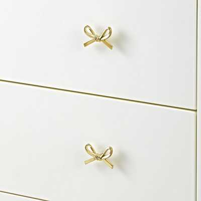 Gold Bow Knob - Crate and Barrel
