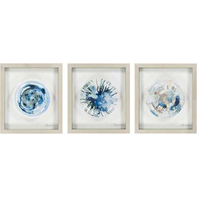 Steele 3 Piece Framed Painting Set - AllModern