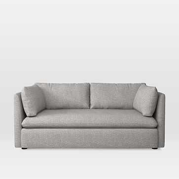 Shelter Loveseat, Deco Weave, Feather Gray - West Elm