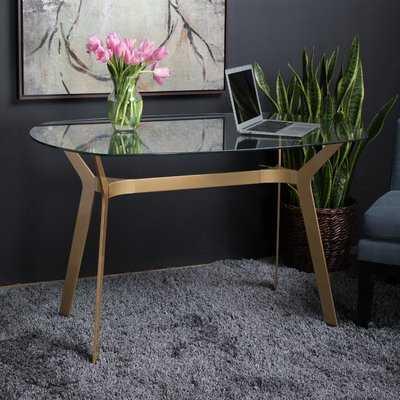 Archtech Modern Glass Desk - Wayfair