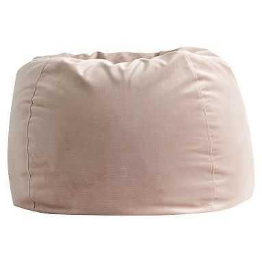 Lustre Velvet Beanbag Slipcover, Large, Dusty Blush - Pottery Barn Teen