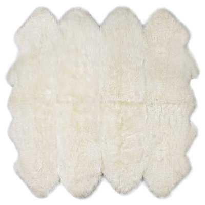 Fonville Eight Pelt Ivory Area Rug - Wayfair