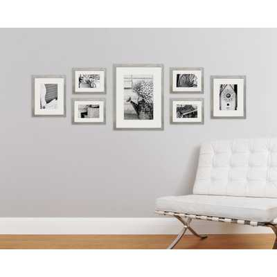 Gallery 4 in. x 6 in., 5 in. x 7 in., 8 in. x 10 in. Graywash Picture Frame (Set of 7), Gray - Home Depot