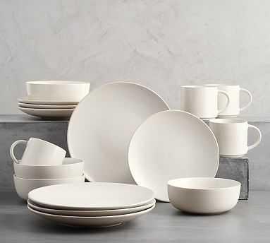 Mason 16 Piece Dinnerware Set - Ivory - Pottery Barn