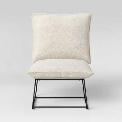 Massey Faux Fur Metal Base Slipper Chair Nubby Ivory - Project 62 - Target