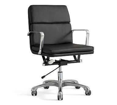 Nash Swivel Desk Chair, Black - Pottery Barn